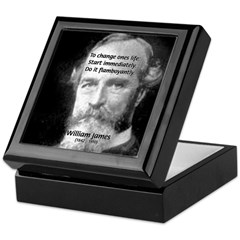 William James Life and Change Keepsake Box