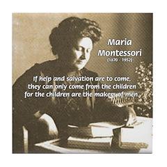 Maria Montessori Education Tile Coaster
