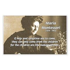 Maria Montessori Education Rectangle Decal