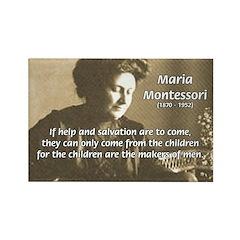 Maria Montessori Education Rectangle Magnet