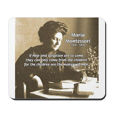 maria montessori education mousepad by philosophy shop