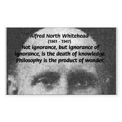 Philosopher: Alfred Whitehead Sticker (Rectangular