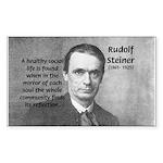 Steiner: Education School Rectangle Sticker