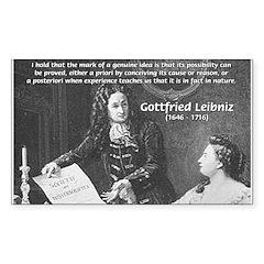 Leibniz Origins of Calculus Rectangle Decal