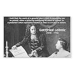 Leibniz Origins of Calculus Rectangle Sticker