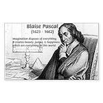 Mathematics: Blaise Pascal Rectangle Sticker