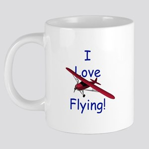 LoveFlyingBlueMug 20 oz Ceramic Mega Mug
