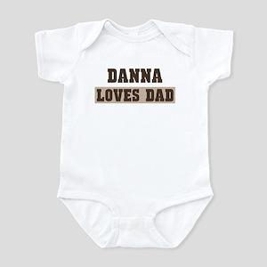 Danna loves dad Infant Bodysuit