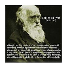 Charles Darwin: Science Tile Coaster