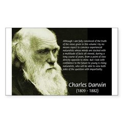 Charles Darwin: Science Rectangle Decal