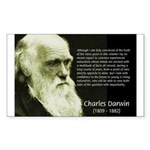 Charles Darwin: Science Rectangle Sticker