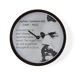 Alexander Graham Bell Wall Clock