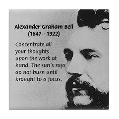 Alexander Graham Bell Tile Coaster