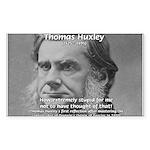 Thomas Huxley and Darwin Rectangle Sticker