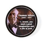 Imagination Thomas Edison Wall Clock