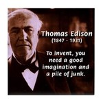 Imagination Thomas Edison Tile Coaster