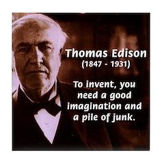 Imagination Thomas Edison Tile Coaster