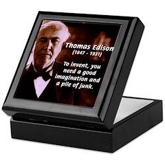 Imagination Thomas Edison Keepsake Box
