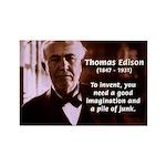 Imagination Thomas Edison Rectangle Magnet