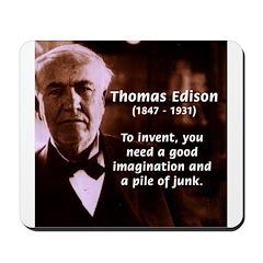 Imagination Thomas Edison Mousepad