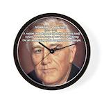 American President FDR Wall Clock