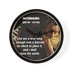 Greek Mathematician: Archimedes Wall Clock
