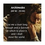 Greek Mathematician: Archimedes Tile Coaster