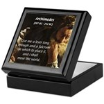 Greek Mathematician: Archimedes Keepsake Box