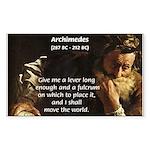 Greek Mathematician: Archimedes Sticker (Rectangul