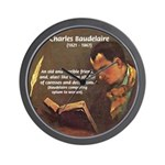 French Poets Baudelaire Wall Clock