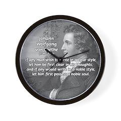 Poet Johann von Goethe Wall Clock
