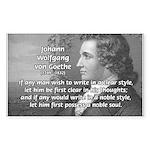 Poet Johann von Goethe Rectangle Sticker
