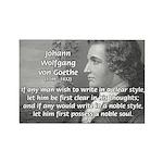Poet Johann von Goethe Rectangle Magnet