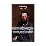 Leo Tolstoy Religion Morality Sticker (Rectangular