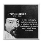 Philosopher Francis Bacon Tile Coaster