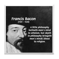 Philosopher Francis Bacon Tile Coaster