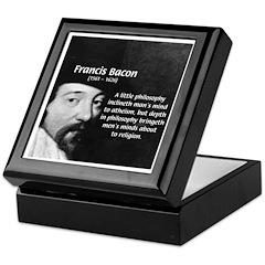 Philosopher Francis Bacon Keepsake Box