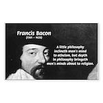 Philosopher Francis Bacon Rectangle Sticker