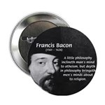 Philosopher Francis Bacon Button