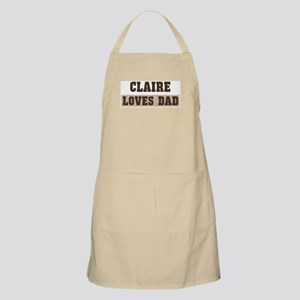 Claire loves dad BBQ Apron