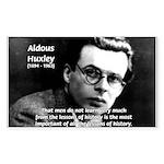 History Aldous Huxley Rectangle Sticker