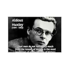 History Aldous Huxley Rectangle Magnet
