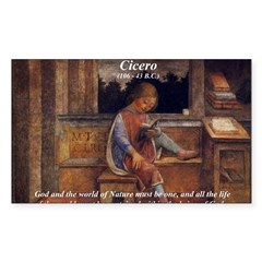 Cicero: God Nature Rectangle Decal