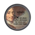 French Philosopher: Voltaire Wall Clock