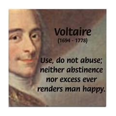 French Philosopher: Voltaire Tile Coaster