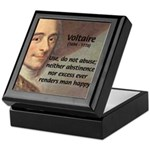 French Philosopher: Voltaire Keepsake Box