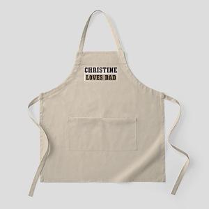 Christine loves dad BBQ Apron