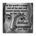 Playwright William Shakespeare Tile Coaster
