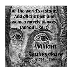 Playwright William Shakespeare Tile Coaster