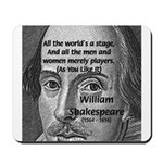 Playwright William Shakespeare Mousepad